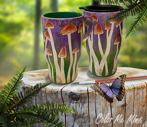 Naperville Mushroom Mugs