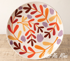 Naperville Fall Floral Charger