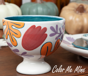 Naperville Floral Pedestal Bowl