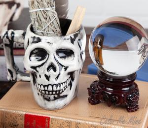 Naperville Antiqued Skull Mug