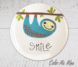Naperville Sloth Smile Plate