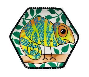 Naperville Chameleon Plate