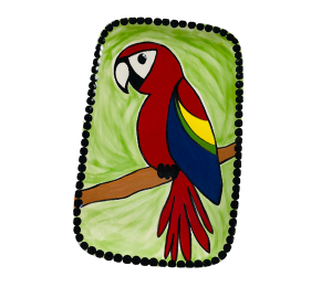 Naperville Scarlet Macaw Plate